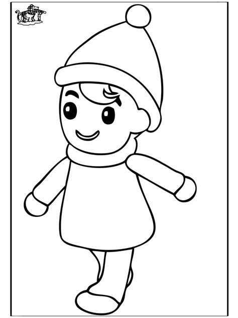little boy 2 children coloring page