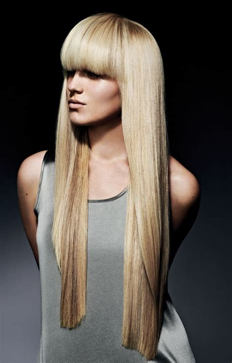 Spring equinox inspiration smooth my hair and blonde bangs