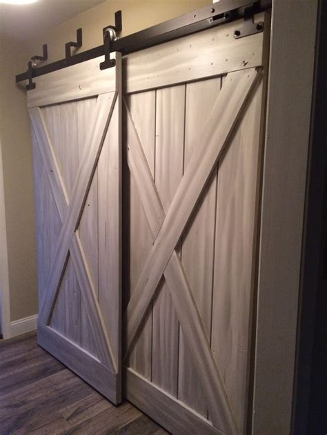 barn closet doors barn doors for closets that present rustic outlooks in