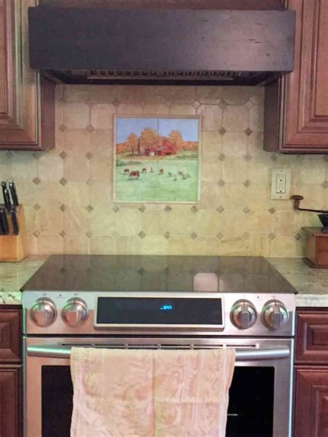 s country kitchen barnyard animals tile portraits