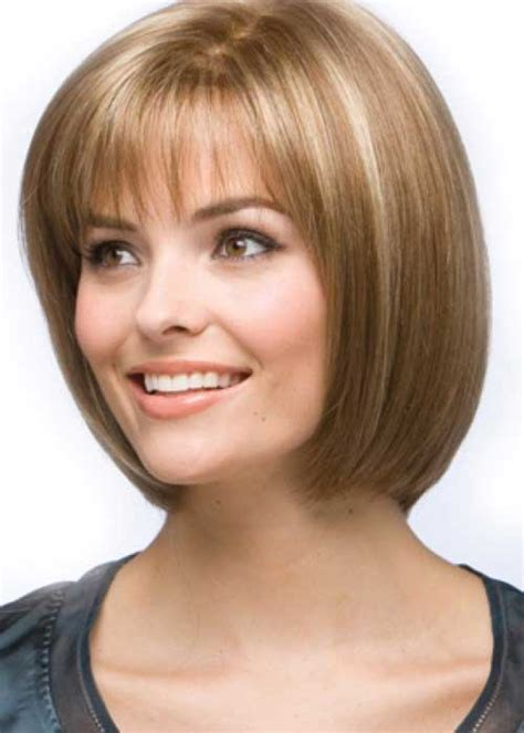 haircuts with bangs for hair 50 narrow chin 15 special chin length layered bob pinkous