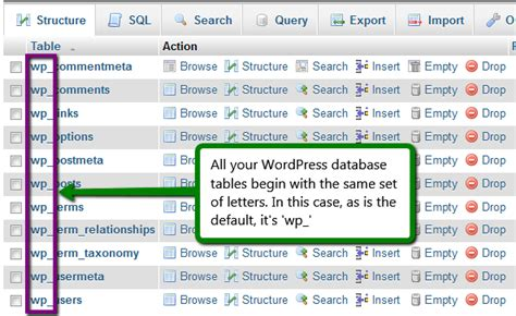 easily change prefixes in a database in minutes uv design changing the wordpress database table prefix security