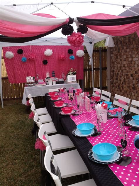 party draping ideas minnie mouse party gazebo great use of plastic