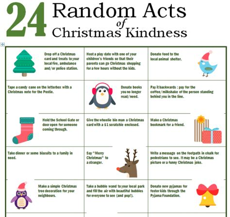 random acts of christmas kindness template images