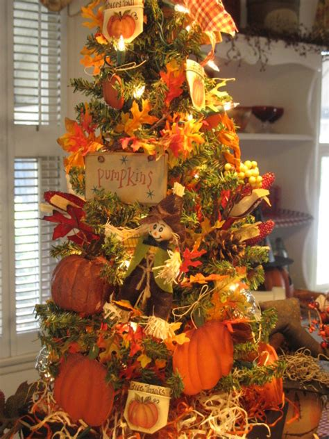 country creations by new autumn thanksgiving tree - Fall Tree Decorations