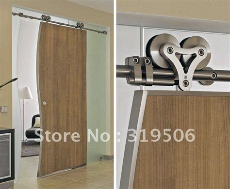 home hardware interior doors modern 304 stainless steel sliding barn door hardware for