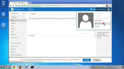 close  hotmail  outlookcom account youtube