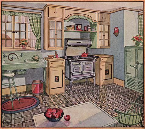 1930s kitchen floors 1928 kitchen in american home by american vintage home via flickr architecture vintage
