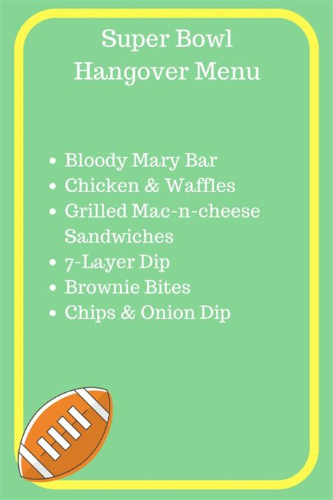 Superbowl Fever Is Here by Bowl Hangover Menu What S Working Here
