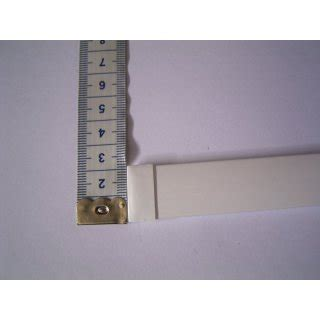 gardinenband zum beschweren alu beschwerung 60cm wei 223 20x3 5mm f 252 r schiebegardinen