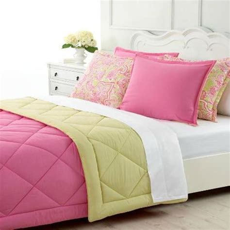 martha stewart down comforter martha stewart essentials pink lime full queen comforter
