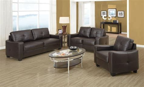Jasmine Brown Bonded Leather Living Room Set From Coaster Brown Leather Living Room Set