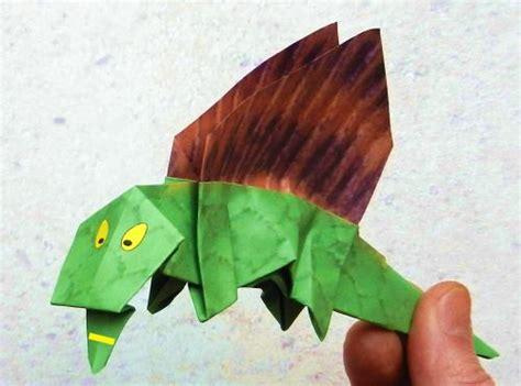 Origami Dimetrodon - joost langeveld origami page