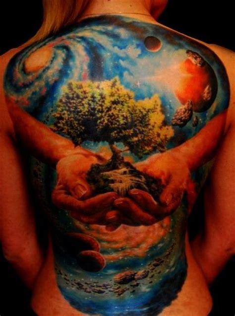 full body nature tattoo best galaxy tattoos trend fashion wear the universe on