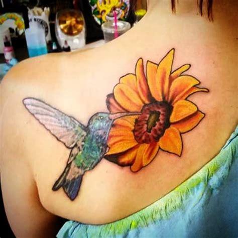 fat cat tattoo citrus heights hummingbird and sunflower by myles vetter yelp
