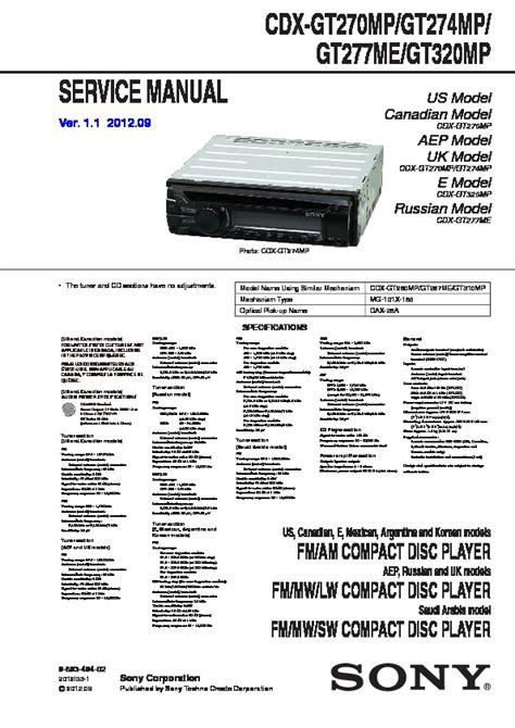 sony cdx gt320mp manual wiring diagrams wiring diagram