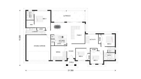 2 Bedroom House Plans With Open Floor Plan Australia Modern House