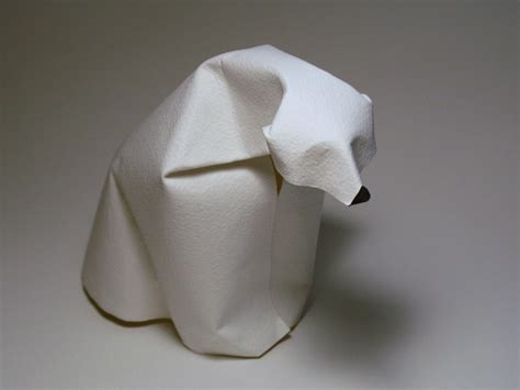 Origami Polar Folding - dinh truong giang folded paper sculpture daily muse