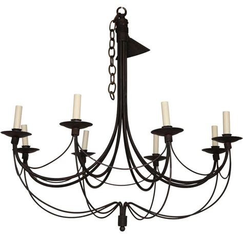 Black Wrought Iron Chandelier Painted Wrought Iron Chandelier At 1stdibs