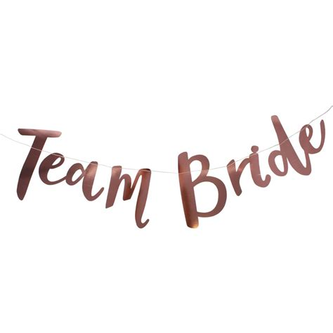 hen party ginger ray rose gold team bride hen party bunting 2m