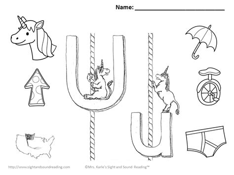 free coloring pages of lower case letter u