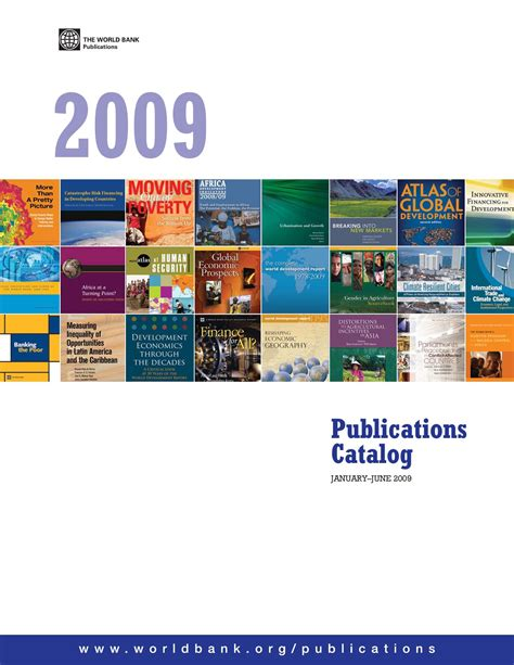 world bank 2009 world bank catalog jan jun 2009 by world bank publications