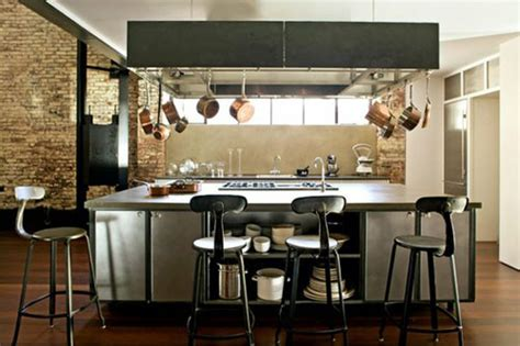 An industrial style kitchen   Indoor Lighting