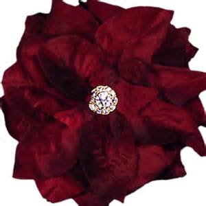 flower clip burgundy assorted flowers x large 6 inch pin velvet elegance fashion accessories
