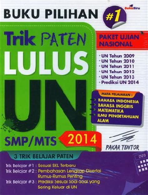 Paten Un Smp by Bukukita Buku Pilihan Trik Paten Lulus Un Smp Mts 2014