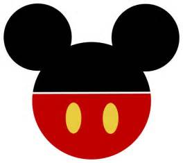 mickey mouse face template clipart