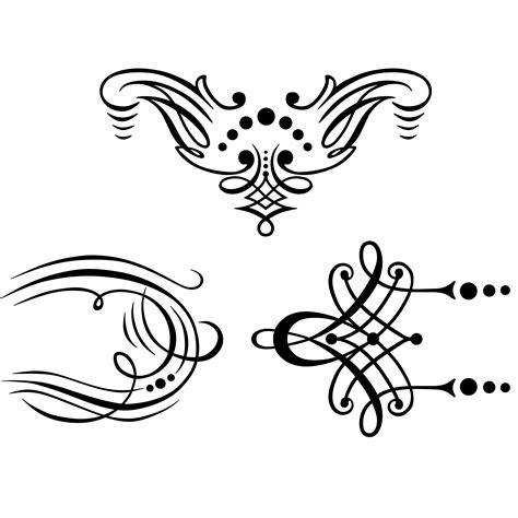 Decorative Flourish by Flourish Ornaments 1 Flourishes Swirls Decorative