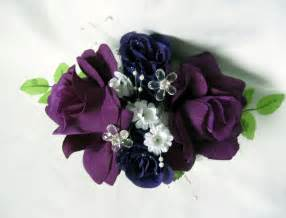 purple corsage purple wrist corsage with crystals and pearls