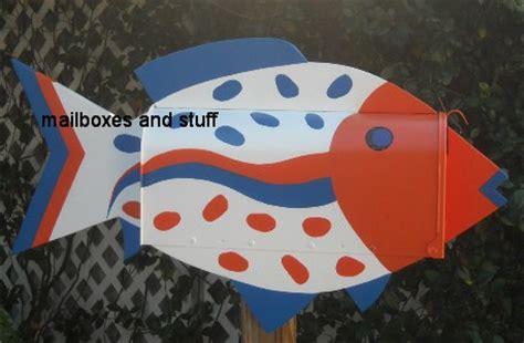 tropical fish mailbox unique colorful fish mailboxes