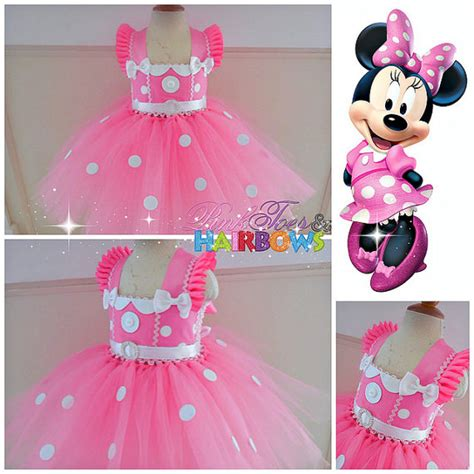 Tutu Dress Mini Pink Usia 3th vestido tutu de minnie mouse vestido minnie rat 243 n por glittermebaby pinteres