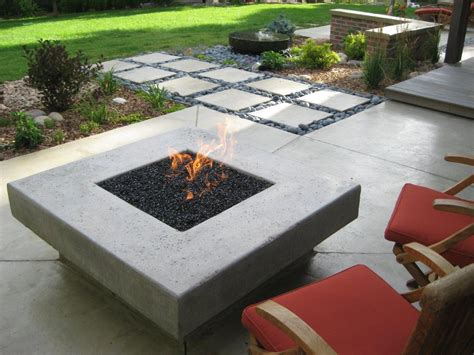 Landscaping In Denver Contemporary Firepit