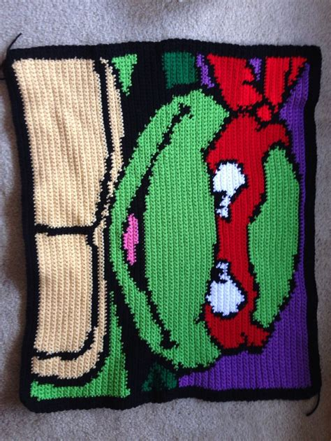 crochet pattern ninja turtle blanket tmnt can be made into pillows or a blanket with all 4