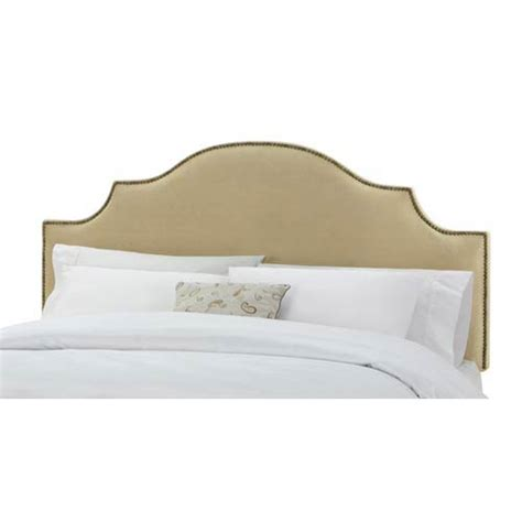 Velvet Buttoned Headboard by Velvet Buckwheat King Nail Button Notched Headboard