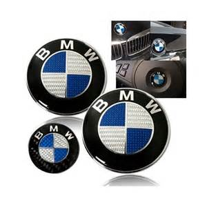 bmw blue carbon fiber emblem trunk emblem steering