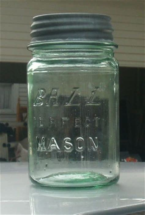 Letter Jar Vtg Green Italic Block Letters Pint Canning Jar Boyd Mold