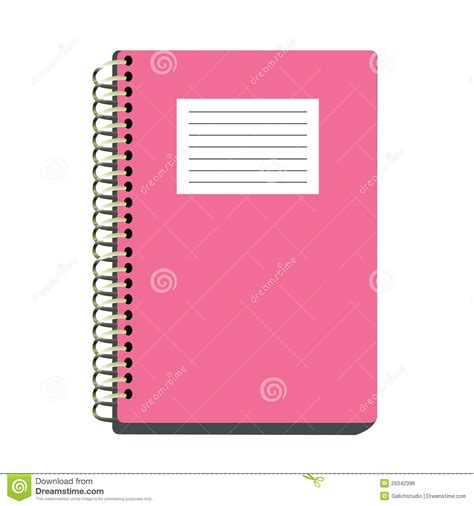 Pink Notebook pink notebook royalty free stock image image 29342396
