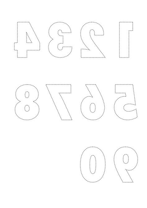 free numbers cards to 250 template printable reversed number and letter templates for craft