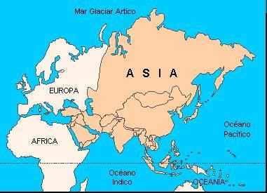 geografia de asia. generalidades, limites