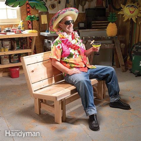 diy bench with backrest how to build a bench family handyman