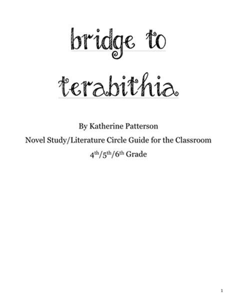 bridge to terabithia novel study guides for the teacher who s on third teaching resources tes