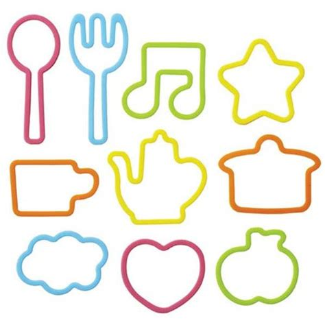 Cutlery Sets Silicone Rubber Band Bento Box Set Spoon Fork Star Music