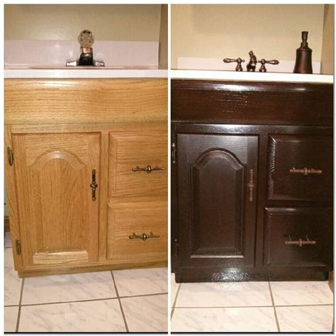 bathroom cabinet finishes like new bathroom vanity general finishes java gel stain