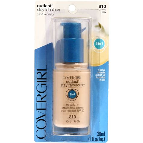 Covergirl Outlast Stay covergirl outlast stay fabulous 3 in 1 foundation classic