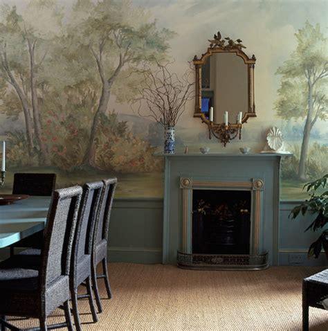 hand painted mural wallpaper susan harter muralpapers