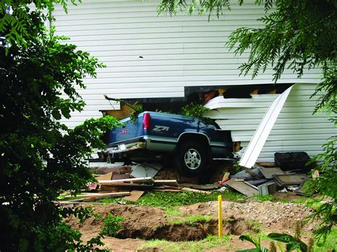 car house car crashes into house built with insulated concrete forms icfs
