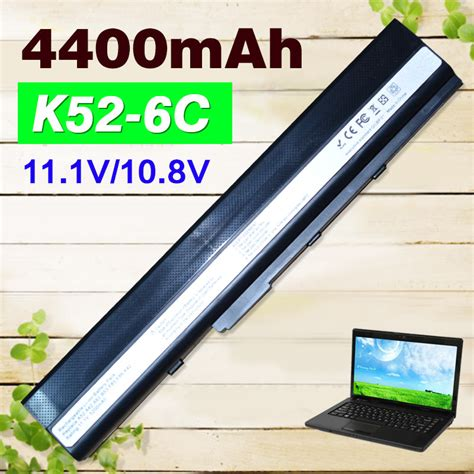 Asus Laptop Battery A52f 4400mah 6 cell laptop battery for asus a32 k52 a31 k52 k52f a52f a52j k52 k52d k52j k52jc k52je